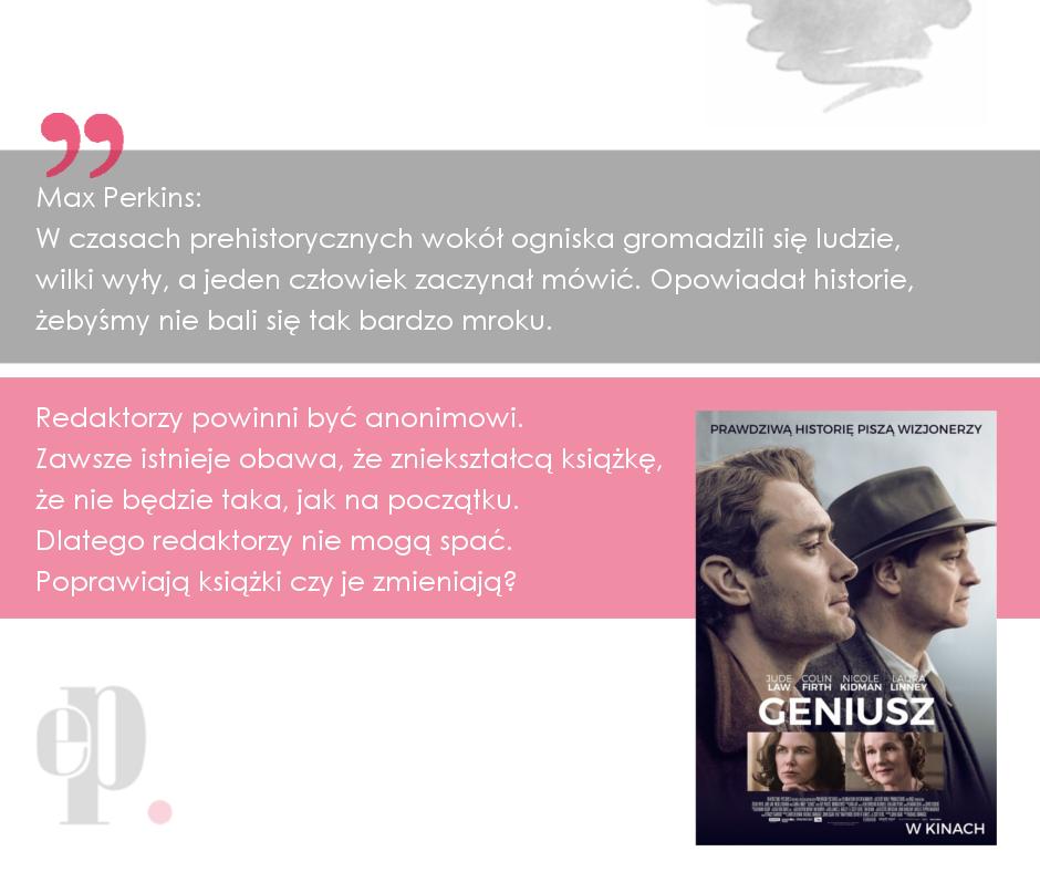 Facebook cytat z filmu Geniusz